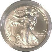 2011-W Burnished BU American Silver Eagle * 1oz Silver