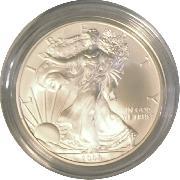 2008-W Burnished BU American Silver Eagle * 1oz Silver