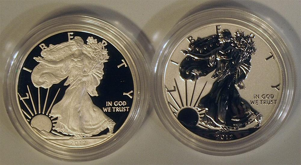 2012 American Silver Eagle 2 Coin Proof Set from San Francisco Mint