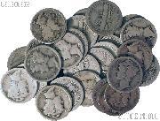 1919-S Mercury Silver Dime - Lower Grade