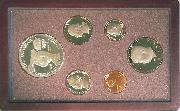 1983 PRESTIGE PROOF SET Deluxe Box & Papers 6 Coin U.S. Mint Proof Set