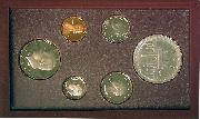 1984 PRESTIGE PROOF SET Deluxe Box & Papers 6 Coin U.S. Mint Proof Set