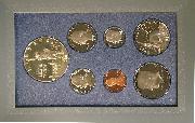 1986 PRESTIGE PROOF SET Deluxe Box & Papers 7 Coin U.S. Mint Proof Set