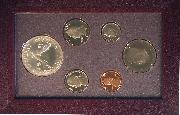 1988 PRESTIGE PROOF SET Deluxe Box & Papers 6 Coin U.S. Mint Proof Set