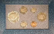 1990 PRESTIGE PROOF SET Deluxe Box & Papers 6 Coin U.S. Mint Proof Set