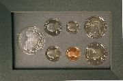 1991 PRESTIGE PROOF SET Deluxe Box & Papers 7 Coin U.S. Mint Proof Set