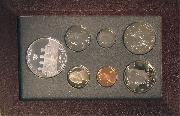 1996 PRESTIGE PROOF SET Deluxe Box & Papers 7 Coin U.S. Mint Proof Set