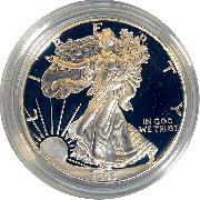 1993 Silver Eagle PROOF In Box with COA 1993-P American Silver Eagle Dollar Proof