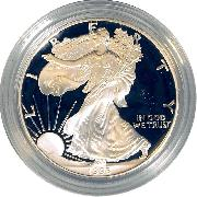 1995 Silver Eagle PROOF In Box with COA 1995-P American Silver Eagle Dollar Proof