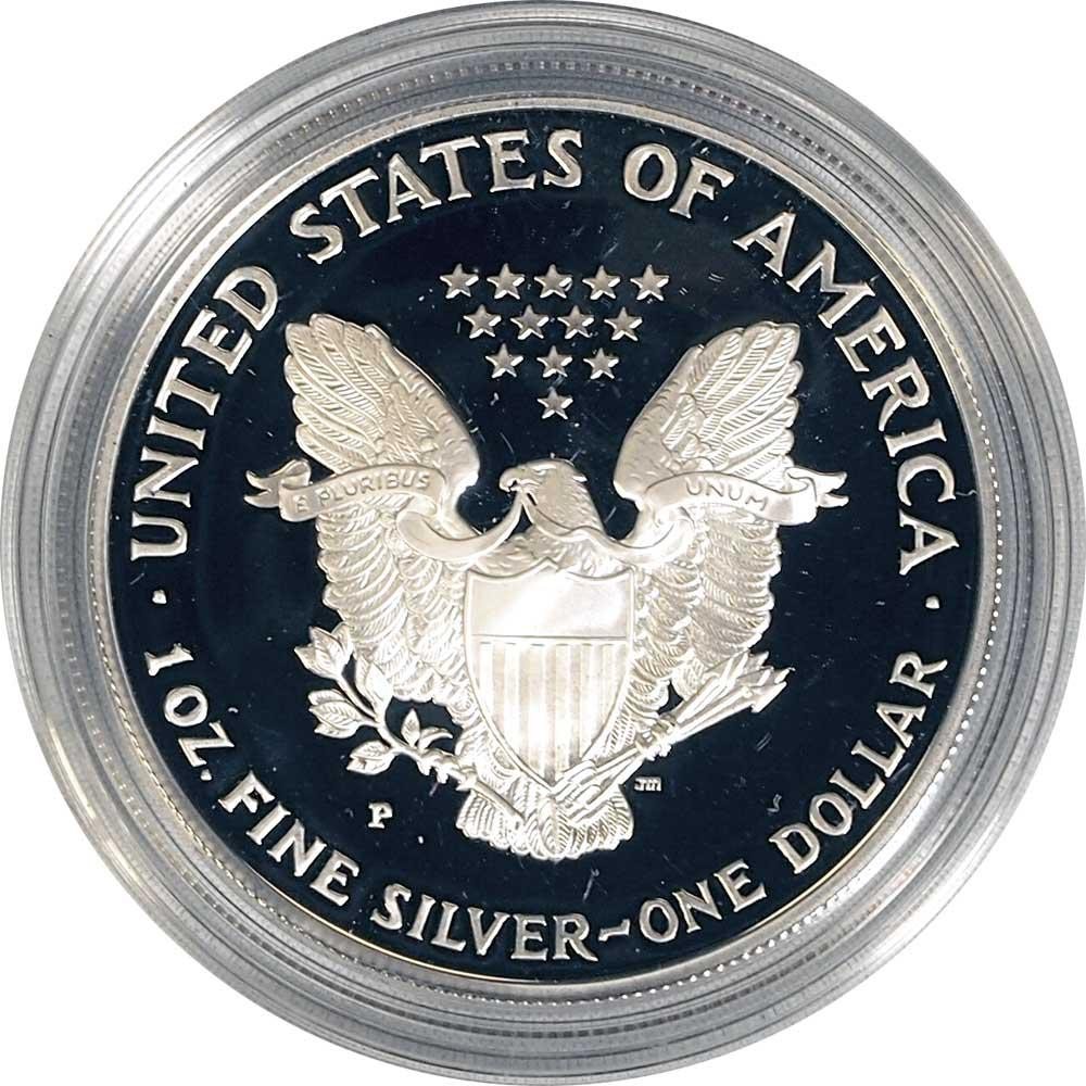 1998 Silver Eagle PROOF In Box with COA 1998-P American Silver Eagle Dollar Proof