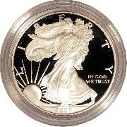 2005 Silver Eagle PROOF In Box with COA 2005-W American Silver Eagle Dollar Proof