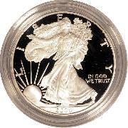 2006 Silver Eagle PROOF In Box with COA 2006-W American Silver Eagle Dollar Proof