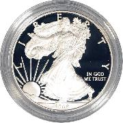 2008 Silver Eagle PROOF In Box with COA 2008-W American Silver Eagle Dollar Proof