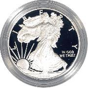 2010 Silver Eagle PROOF In Box with COA 2010-W American Silver Eagle Dollar Proof