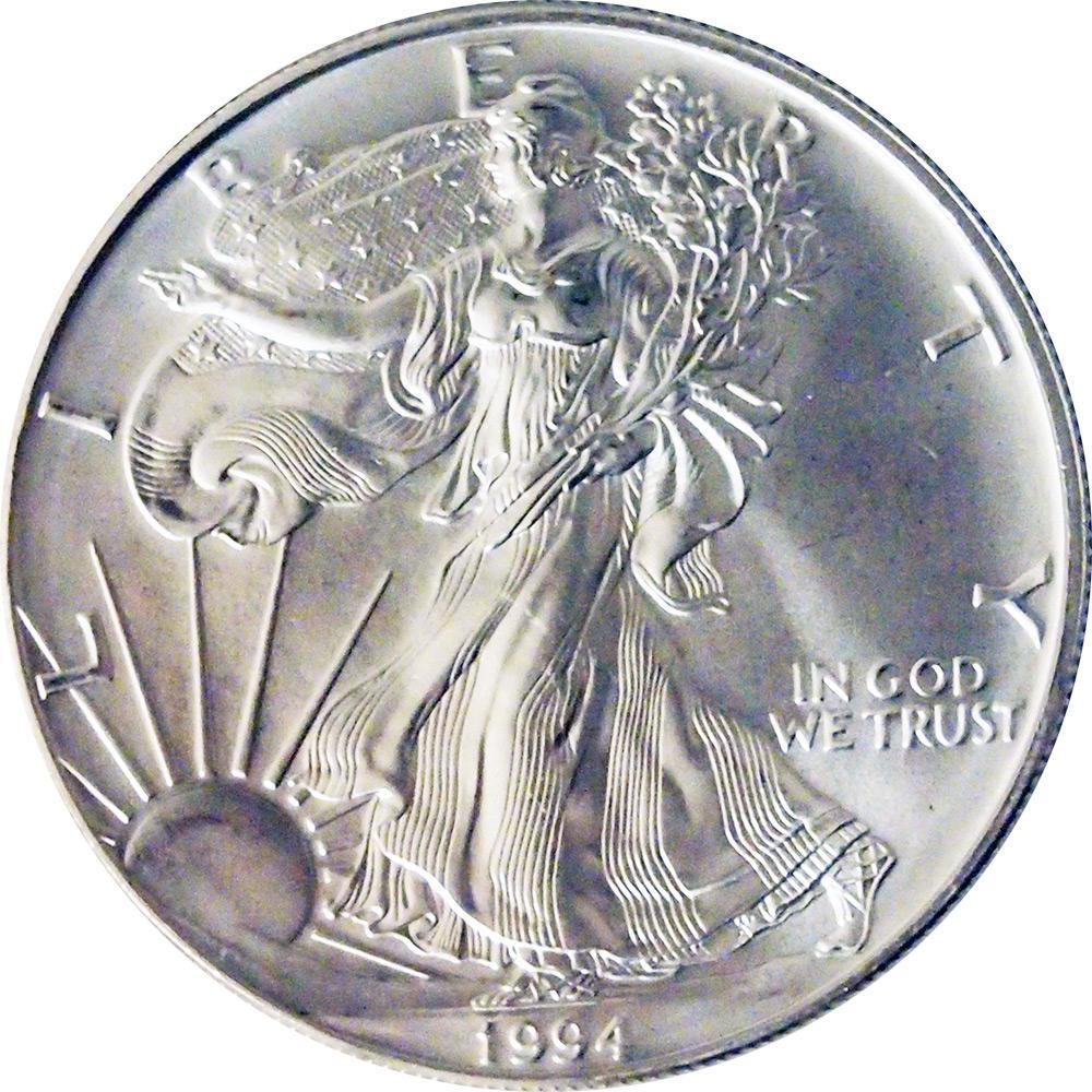 1994 American Silver Eagle Dollar Bu 1oz Silver