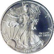 1997 American Silver Eagle Dollar BU 1oz Silver Uncirculated Coin
