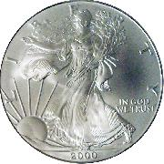 2000 American Silver Eagle Dollar BU 1oz Silver Uncirculated Coin