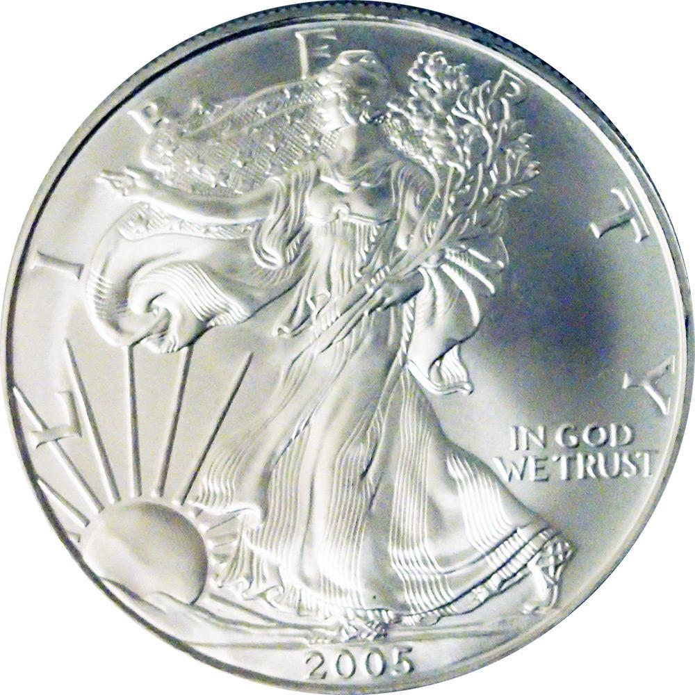2005 American Silver Eagle Dollar Bu 1oz Silver
