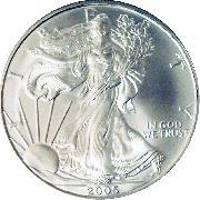 2005 American Silver Eagle Dollar BU 1oz Silver Uncirculated Coin