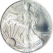 2007 American Silver Eagle Dollar BU 1oz Silver Uncirculated Coin