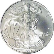 2008 American Silver Eagle Dollar BU 1oz Silver Uncirculated Coin