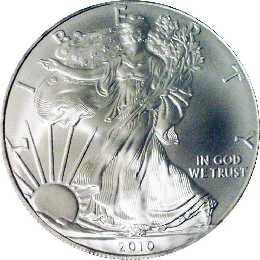 2010 American Silver Eagle Dollar Bu 1oz Silver
