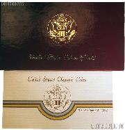 1984 Los Angeles Olympics Commemorative Proof Silver & Gold Three Coin Set OGP Replacement Box and COA