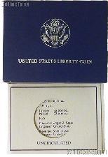 1986 Statue of Liberty Centennial Commemorative Uncirculated Half Dollar OGP Replacement Box and COA