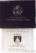 1989 Congress Bicentennial Commemorative Proof Half Dollar OGP Replacement Box and COA