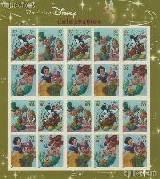 2005 Celebration - Art of Disney 37 Cent US Postage Stamp Unused Sheet of 20 Scott #3912 - #3915