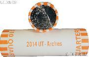 2014-P Utah Arches National Park Quarters Bank Wrapped Roll 40 Coins GEM BU