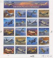 2005 Advances in Aviation 37 Cent US   Postage Stamp Unused Sheet of 20 Scott #3916 - #3925