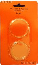 """Air-Tite Coin Capsule Direct Fit """"H34"""" Coin Holder U.S. $20 Gold"""