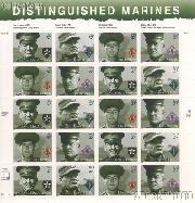 2005 Distinguished Marine 37 Cent US Postage Stamp Unused Sheet of 20 Scott #3961-3964