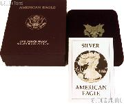 1986-S American Silver Eagle 1 oz Silver Proof Coin OGP Replacement Box and COA