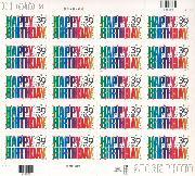 2006 Happy Birthday 39 Cent US Postage Stamp Unused Sheet of 20 Scott #4079