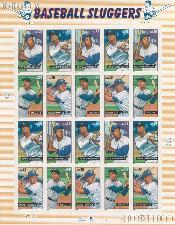 2006 Baseball Sluggers 39 Cent US Postage Stamp Unused Sheet of 20 Scott #4080 - #4083
