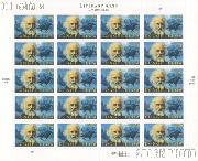 2007 Literary Arts - Henry Wadsworth Longfellow 39 Cent US Postage Stamp Unused Sheet of 20 Scott #4124