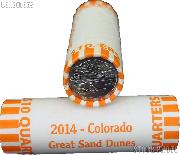 2014 P & D Colorado Great Sand Dunes National Park Quarter Bank Wrapped Rolls 80 Coins GEM BU