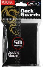 Deck Guard Sleeves for Trading Cards Black by BCW Pack of 50