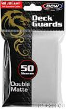Deck Guard Sleeves for Trading Cards White by BCW Pack of 50