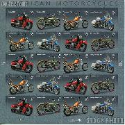 2006 American Motorcycles 39 Cent US Postage Stamp Unused Sheet of 20 Scott #4085 - #4088