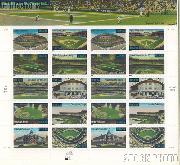 2001 Legendary Playing Fields 34 Cent US Postage Stamp Unused Sheet of 20 Scott #3510 - #3519