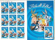 2001 That's All Folks 34 Cent US Postage Stamp Unused Sheet of 10 Scott #3534
