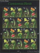 2001 Carnivorous Plants 34 Cent US Postage Stamp Unused Sheet of 20 Scott #3528 - #3531