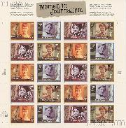 2002 Women in Journalism 37 Cent US Postage Stamp Unused Sheet of 20 Scott #3665-#3668
