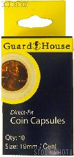 Guardhouse Box of 10 Coin Capsules for CENTS (19mm)