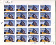 2004 United States Air Force Academy 50th Anniversary 37 Cent US Postage Stamp Unused Sheet of 20 Scott #3838