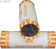 2014 P & D Florida Everglades National Park Quarter Bank Wrapped Rolls 80 Coins GEM BU