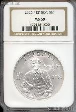 2004-P Thomas Alva Edison Commemorative Uncirculated Silver Dollar in NGC MS 69